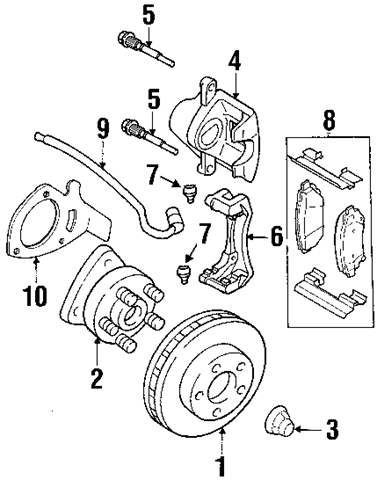2002 Chevy Front Brake Diagram